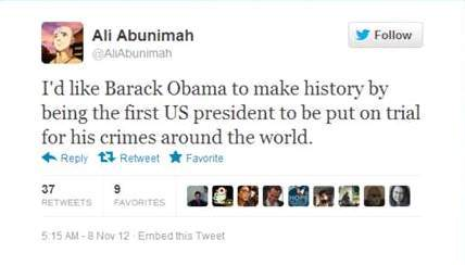 Abunimah on Obama
