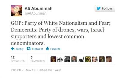 Abunimah on US parties