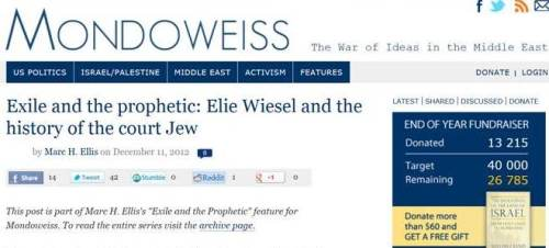 Mondoweiss EWiesel