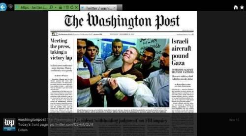 WaPo Gaza baby Fpage