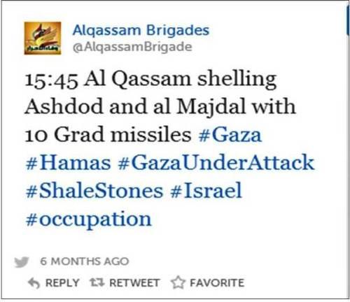 Ashkelon Qassam tweet