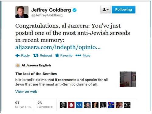 Goldberg on Massad AlJaz