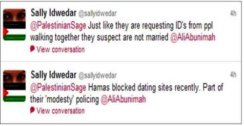 Hamas blocks dating sites