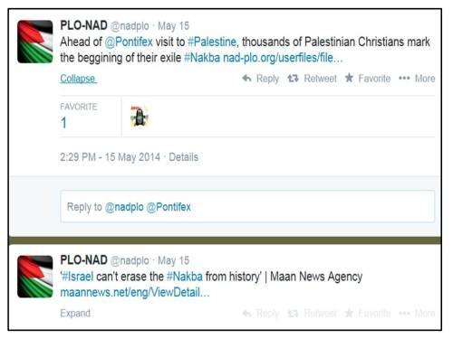 Pope Palestine Nakba