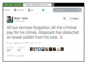 Gaza Dr cheers Hamas kidnap claims