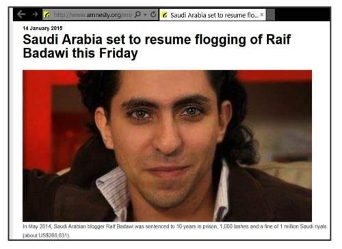 Saudi blogger Badawi