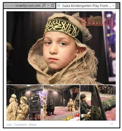 Gaza kindergarten terror show