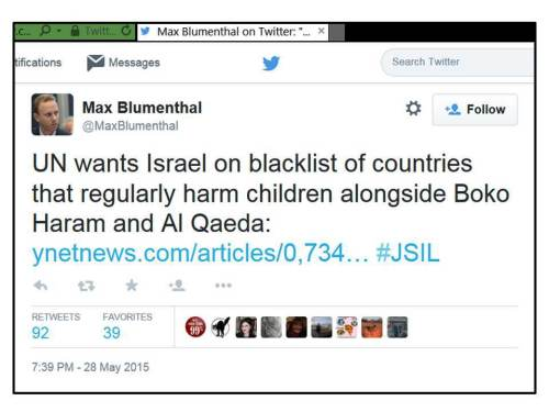 MB on UN blacklisting IDF