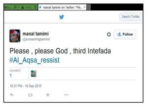 MTamimi 3rd intifada