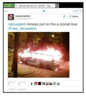 MTamimi Zionist bus on fire