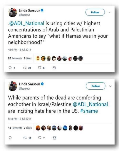 Attacks ADL anti-Hamas campaign 2014