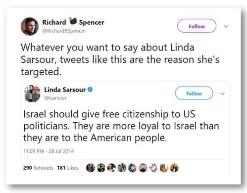 Richard Spencer defends Sarsour