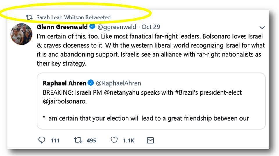 SLW RTs Greenwald Bolsonaro