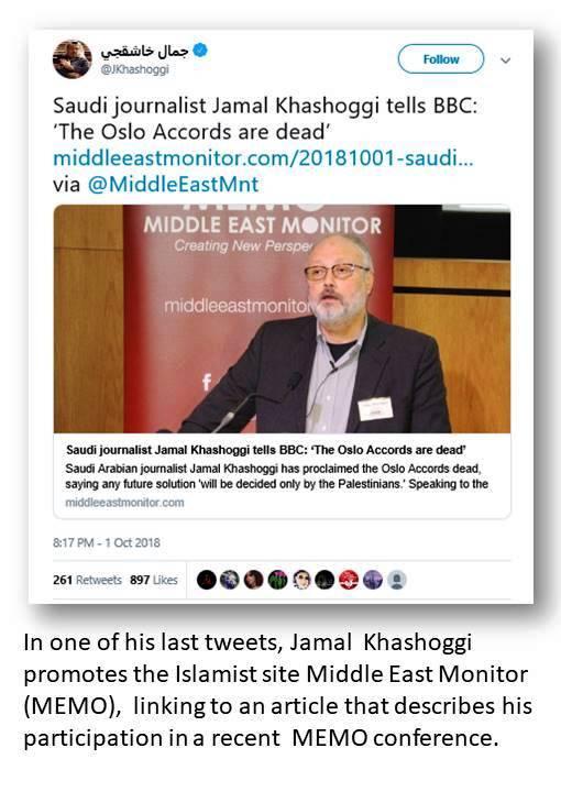 Khashoggi tweets MEMO
